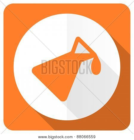 chemistry orange flat icon