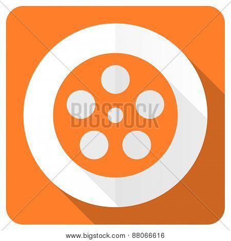 film orange flat icon