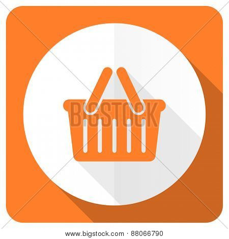 cart orange flat icon shopping cart symbol