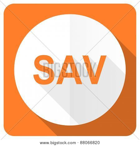 sav orange flat icon