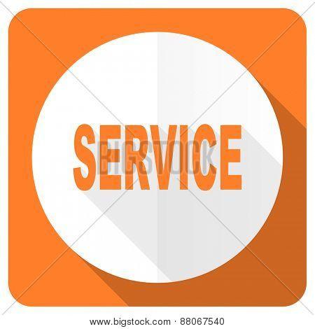 service orange flat icon