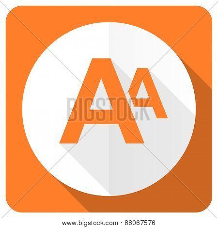 alphabet orange flat icon