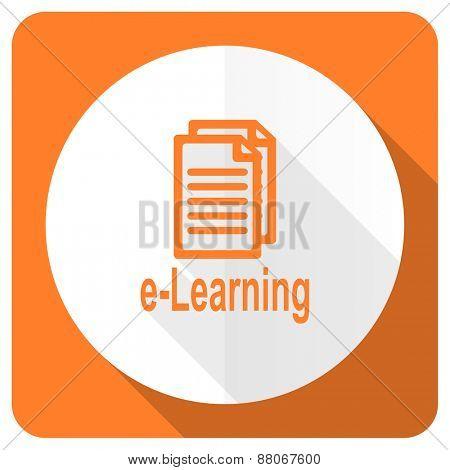 learning orange flat icon