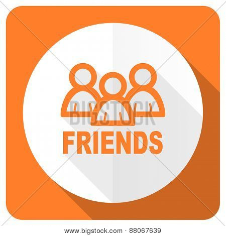 friends orange flat icon
