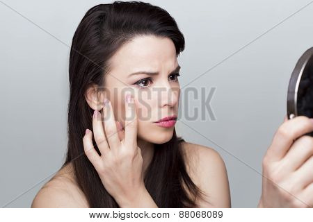 Woman wrinkles