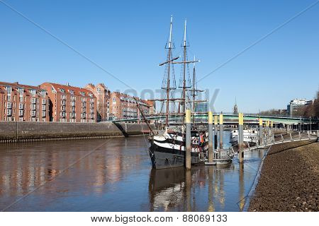 Old Pirate Ship in Bremen, Germany