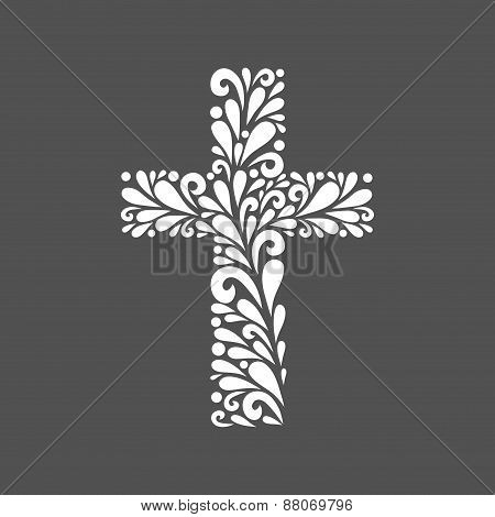 Floral Cross.