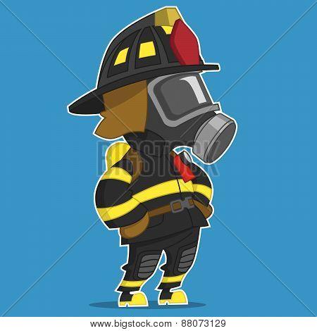 fireman standing