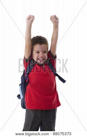 Young Happy Schoolboy