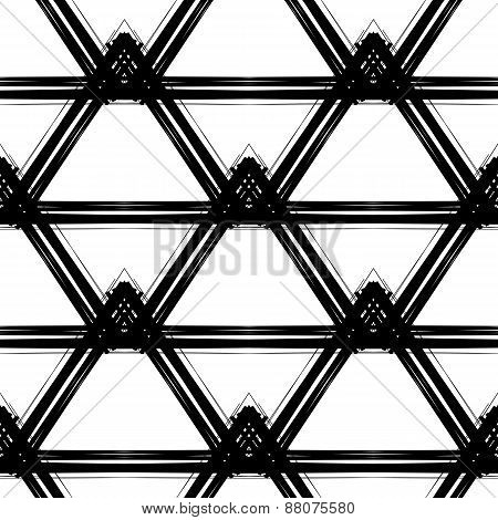 Black and white grungy seamless pattern