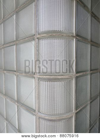 Art Deco Glass Block Wall
