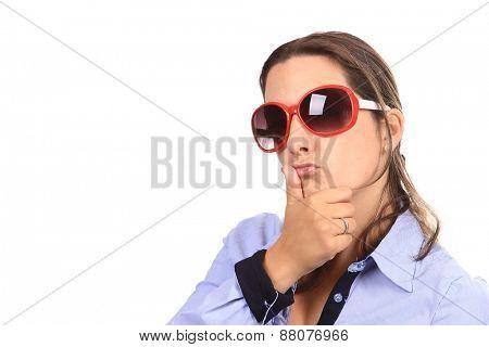 beautiful woman with sunglasses