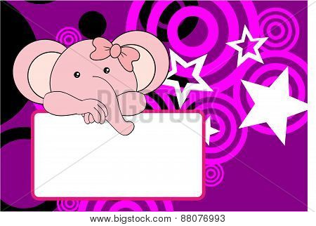 cute baby elephant girl background