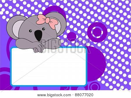 cute baby koala girl background