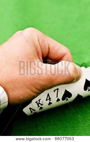 Hand covering cards
