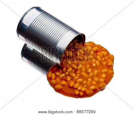 Baked beans spilled