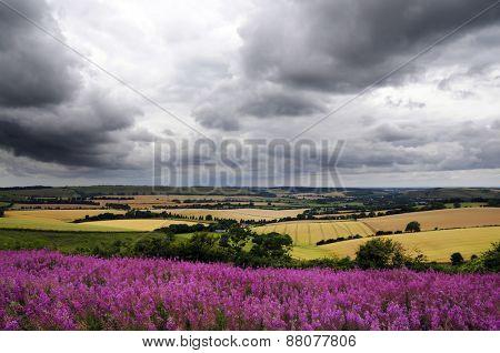 storm over landscape