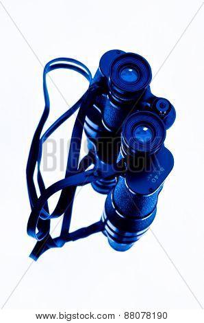 Binoculars white background