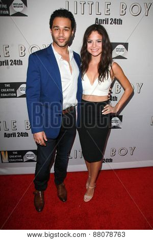 LOS ANGELES - FEB 14:  Corbin Bleu, Sasha Clements at the