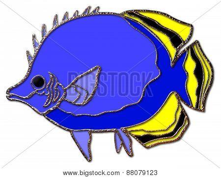 Tropical Fish (Yellow & Black Tail)