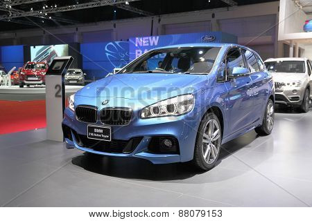 Bangkok - March 25: Bmw 218I Active Tourer   Car On Display At The 36 Th Bangkok International Motor