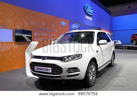 BANGKOK - MARCH 25: Ford Territory car on display at The 36 th Bangkok International Motor Show on M