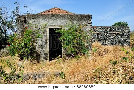 Abandoned Home With Door Opened
