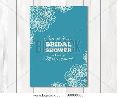 Bridal shower or wedding invitation, card template