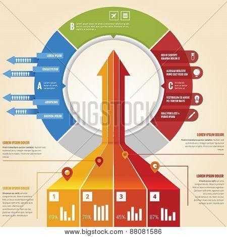 Business arrow infographic