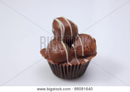 Delicious Chocolate Praline Are Tasty Dessert.