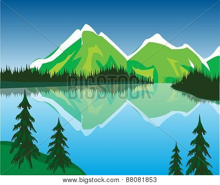 Lake in mountains