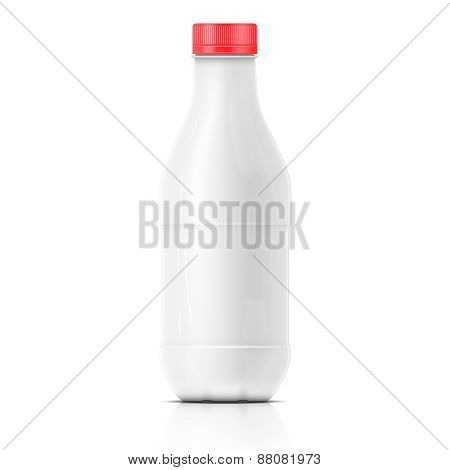 White milk plastic bottle template.