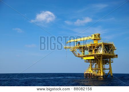 Oil and Rig industry in offshore, Construction platform for production oil and gas in energy busines