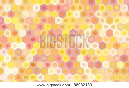 Yellow Hexagon Vector Background Design.geometric Background.