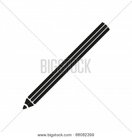 The Pencil Icon. Pencil Symbol. Flat.