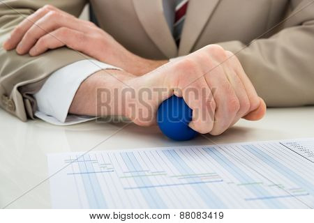 Businessperson Hand With Stressball