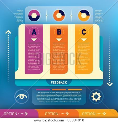 Modern info graphic illustration. Vector illustration.