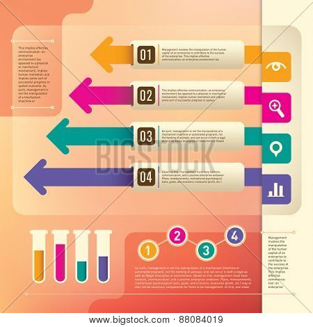 Business info graphic elements. Vector illustration.