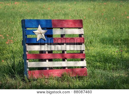 Wood Pallet Flag Withtexas Star