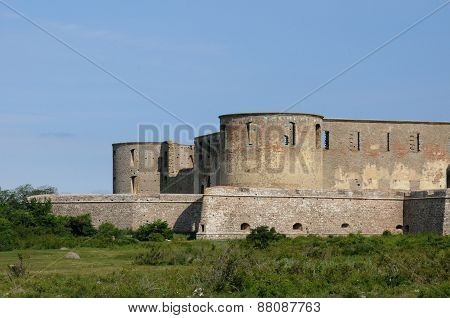 Sweden, The Ruin Of Borgholm Renaissance Castle