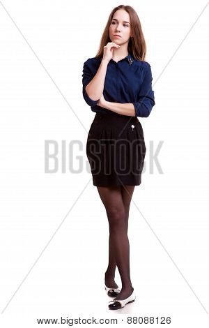 Business Person Full Body In Studio Shooting