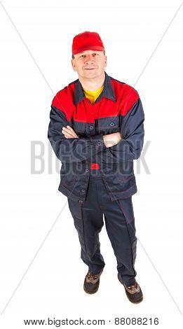 Worker in workwear.