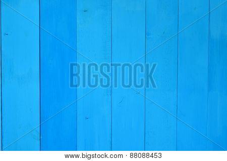 Blue wood planks background