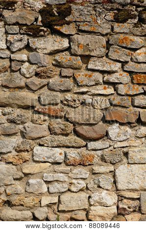 France, A Stone Wall In Ile De France
