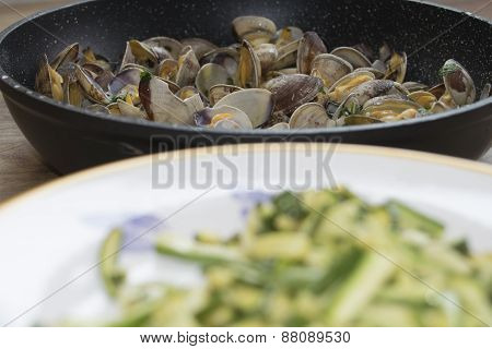 Zucchini And Clams