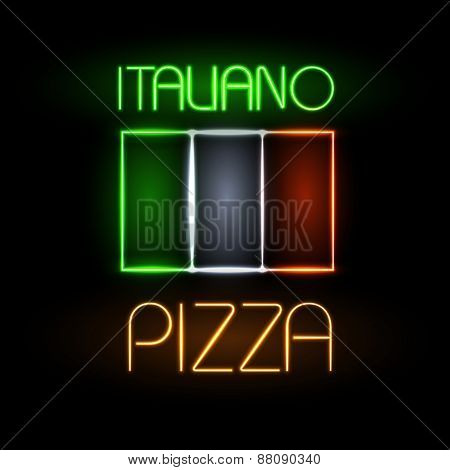 Neon Sign Pizza