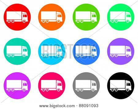 shipping vector icons set