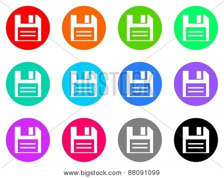 floppy vector icons set