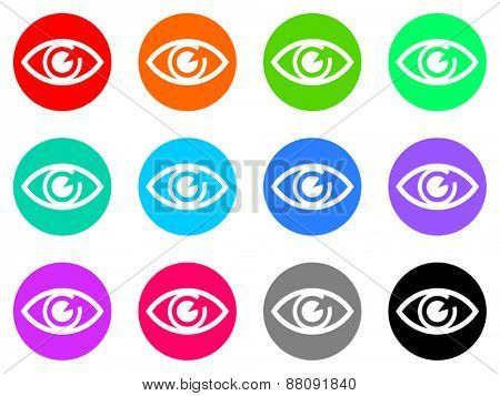 eye vector icons set