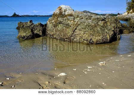 Rocks And Water In Mamoko Bay